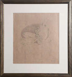 Hans Bellmer, Iv From Les Marionnettes, Hand-colored Drypoint Etching On Rice Pa