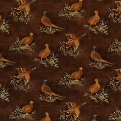 Mulberry Game Bird Velvet Upholstery Fabric- Game Show / Spice 4 Yds Fd316.t30