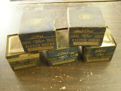 Nos Oem Ford 1940and039s Piston Rings Display Lot V8 Flat Head 1948 1949 1950 1951 +