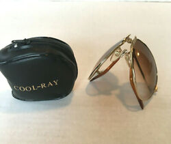 True Vintage Original Cool Ray Folding Aviator Sunglasses with Zip Around Case $56.99