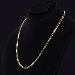 14k Yellow Gold Mens Womens 6.5mm Cuban Miami Chain Necklace 16 - 30
