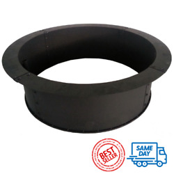28 Steel Fire Pit Ring Spark Screen Round Black Outdoor Wood Burning Bowl Cover