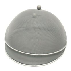 2 White Mesh Dome Food Covers Bbq Table Fly Mosquito Plate Dish Cover 15 3/4