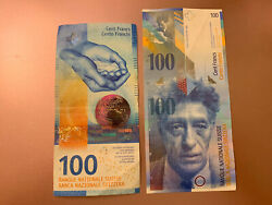 2 X Swiss 100 Banknotes. Cir Switzerland 200 Swiss Francs Total. 2 Notes Total H