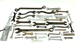 Mixed Vintage Lot Used Wrenches Hand Tools Industrial Drop Forged Usa Aigo Apex
