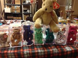 Ty Beanie Baby Bears Lot With 8 Bears With Errors
