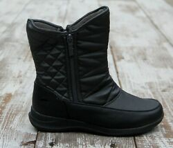 TOTES Waterproof Thermolite Women#x27;s Size 8 Quilted Lined Winter Snow Boot Shoes $28.00