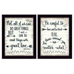 Great Love 2-piece Vignette By Annie Lapoint Printed Art Wood Multi-color