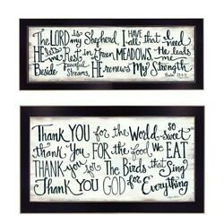 Thank You Lord 2-piece Vignette By Annie Lapoint Printed Art Wood Multi-color