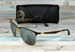RAY BAN RB3569 187 88 Gold Top Black Grey Mirror Silver 59 mm Unisex Sunglasses $101.95
