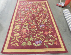 Burgundy 5and039-3 X 8and039-3 Damaged Rug Reduced Price 1172605078 Hk210c-5