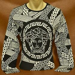 Brand New With Tags MEN#x27;S VERSACE SWEATSHIRT Size M to 2XL $24.99