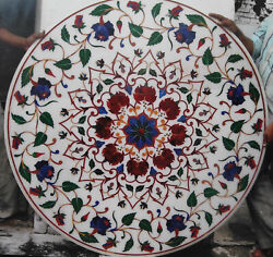 30 White Marble Table Top Dining Coffee Room Decor Inlay Antique Malachite B09