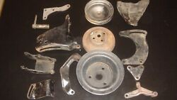 1969-1975 Chevrolet 307-350 Engine Pulley And Bracket Set With A-c