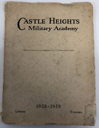 Castle Heights Military Academy 1928-1929 Recruitment Book Awesome