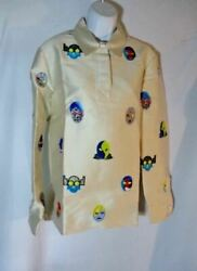 Nwt New Stella Mccartney Lucha Libre Shirt Top 42 M Embroidered Patch Sand