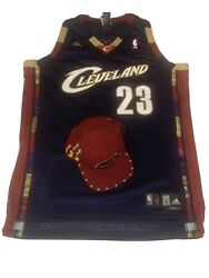 Cleveland Lebron Jersey And Hat Combo Very Rare Adidas Snapback