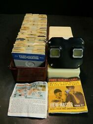 Mid Century Sawyerand039s View Master + Reel Collection Over 140 Reels In Case Vg