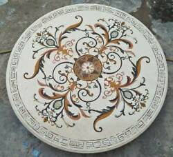 4and039 White Marble Table Top Dining Coffee Room Decor Inlay Malachite B10