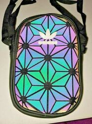 Adidas Holographic Messenger Purse Festival School Bag $28.45