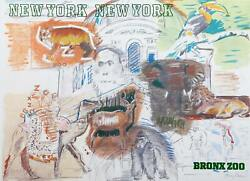 Larry Rivers New York City - Bronx Zoo Affiche