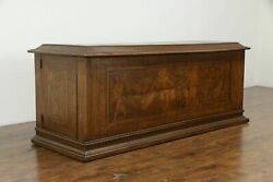 Italian Antique Dowry Chest Or Blanket Trunk Marquetry Angels Or Cherubs 31943
