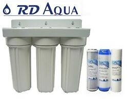 10 3 Stage Drinking Water Filter 3/4 Port Whole House System Halloween Sale