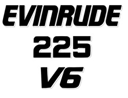 Evinrude V6 Or V4 Outboard Motor Decals You Pick Your Own Hp