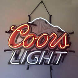 Neon Signs Gift Coors Light Mountain Beer Bar Pub Party Store Room Decor 19x15