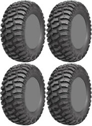 Four 4 Ams M1 Evil Atv Tires Set 2 Front 26x9-14 And 2 Rear 26x9-14