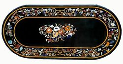 4'x2' Marble Coffee Side Table Top Stones Inlay Mosaic Home Decor Pietra Dura