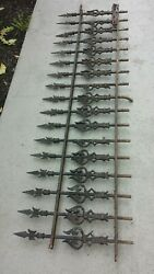 Antique Wrought Iron Victorian Fence Ornate Fancy Gothic Beautiful