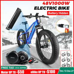 Electric Snow Bike Bafang 1000w Mid Motor Fat Tire Beach Bicycle With Battery