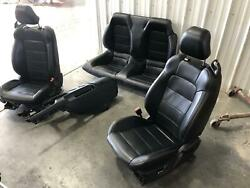 2015-2017 Ford Mustang Front Seat Set Leather Electric