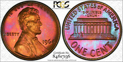 1964 Lincoln Memorial Proof Cent Pcgs Pr67rb-toned