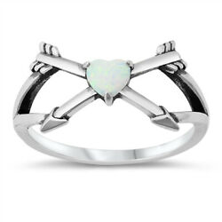 Fashion Bow Arrow Promise Heart Ring New .925 Sterling Silver Band Sizes 5-10