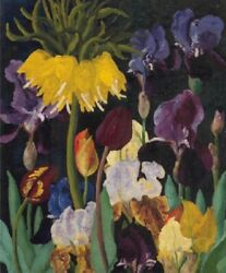 Irises And Tulips By Cedric Morris Painting Flowers Paint By Numbers Kit Diy