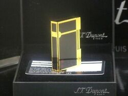 S.t.dupont Gas Lighter Yellow Gold/ Lacquer Rectangle Lg1726