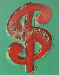 Andy Warhol, Dollar Sign Green, Screenprint, Stamped In Blue Verso