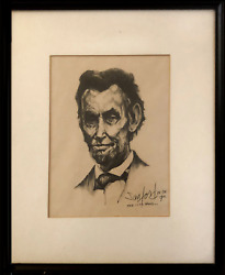 Walter Sanford, The Cool Hand Abraham Lincoln, Woodcut, Signed And Numbered In