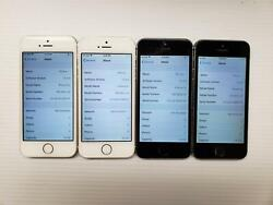As Is Lot Of 4 Apple Iphone 5s - 16gb - Wihite / Black Atandt Only A1533 Gsm 101