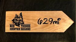 Your Miles To Big Thunder Mountain Railroad Personalized Sign