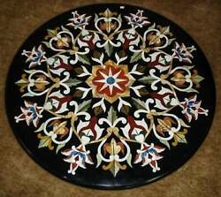 36and039and039 Handicraft Black Marble Dining Coffee Table Top Wall Inlay Malachite