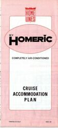 1985 Home Lines M.v. Homeric Tissue Deck Plan - Later Westerdam And Costa Europa