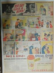 Ovaltine Ad Little Orphan Annie Mug Premium From 1937 Size 15 X 22 Inches