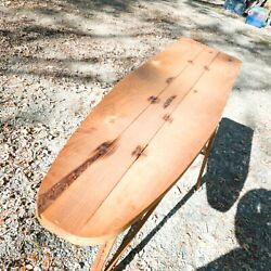 Vintage Antique Wooden Ironing Board Folding Table Primitive Farmhouse Cover Pad