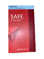 Delta Air Lines Safety Card Airbus A350-900 Card 09/17