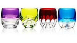 Waterford Mixology 4 Double Old Fashioned Mixed Color Tumblers 160453 New In Box