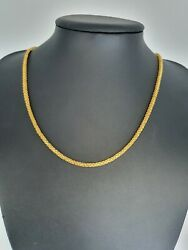 22k Yellow Gold Mens/ladies Chain Necklace 22 Inches Long Hallmarked