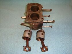 Johnson Outboard Motor A50 - Head And Pistons